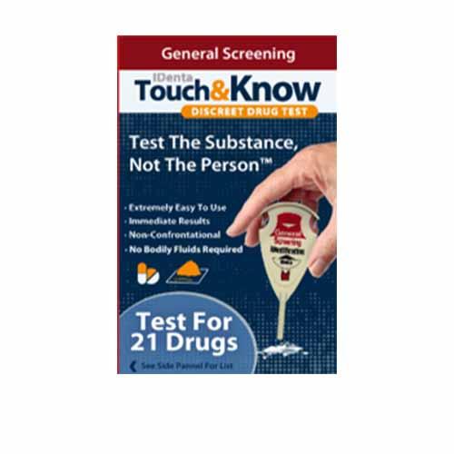 Touch&Know Общ Полеви Наркотест за 24 наркотични вещества